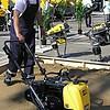 Демонстрация работы виброплиты LF100 LAT на грунтовой поверхности